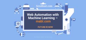 Web Automation Machine Learning