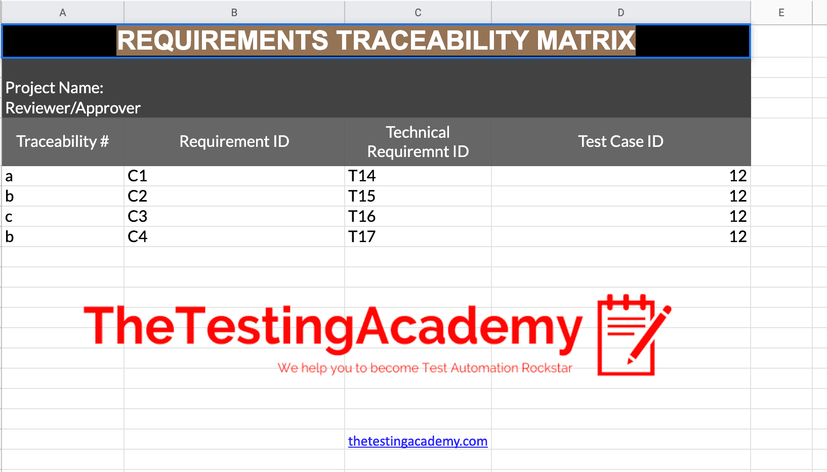 download requirements tracebility matrix template