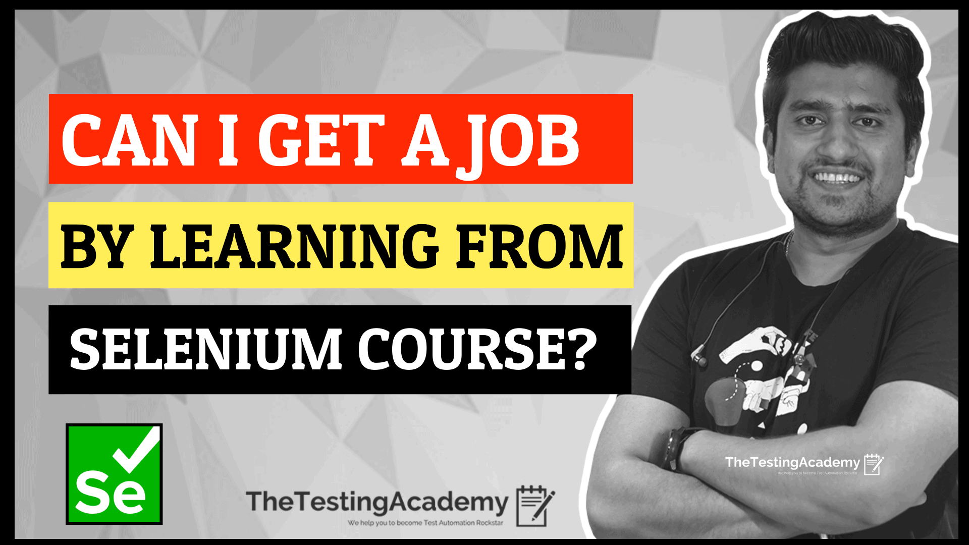 learn selenium course