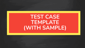 testcase template sample