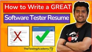 Software testing resume
