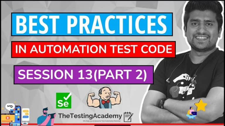 Best practices in automation test code