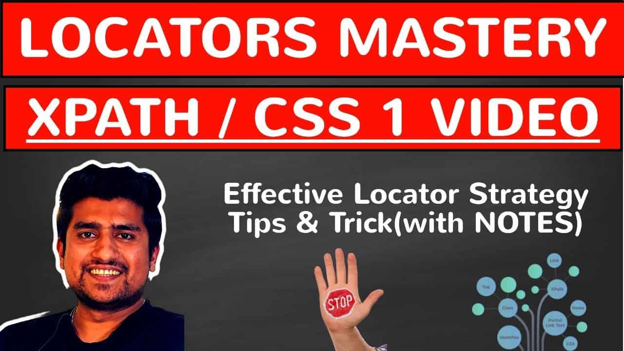 learn locators strategy xpath css